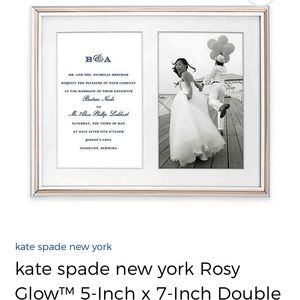 Kate spade rose gold picture frame